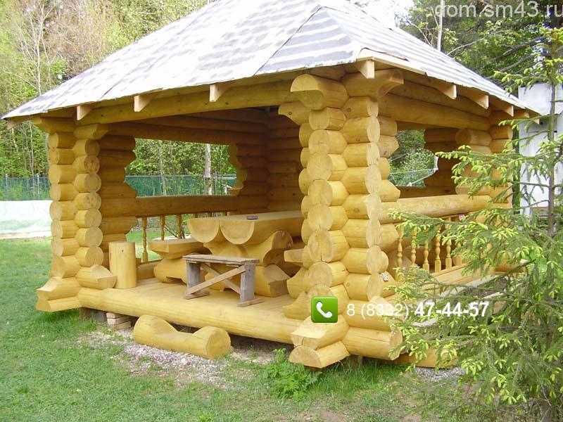 Дом из оцилиндрованного бревна своими руками фото